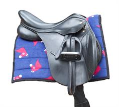Horse Saddle Pad - Blue Horse Heads