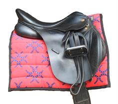 Horse Saddle Pad - Red Horse Shoes