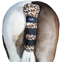 Fleece Travel Horse Tail Guard - Leopard