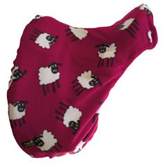 Fleece Saddle Cover - Red Sheep