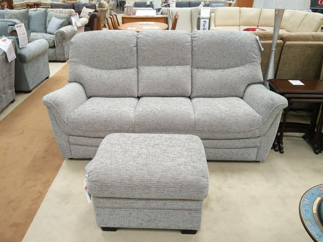 Parker Knoll - Savannah - 3 Steater Sofa, Powered Recliner Chair and Storage Footstool