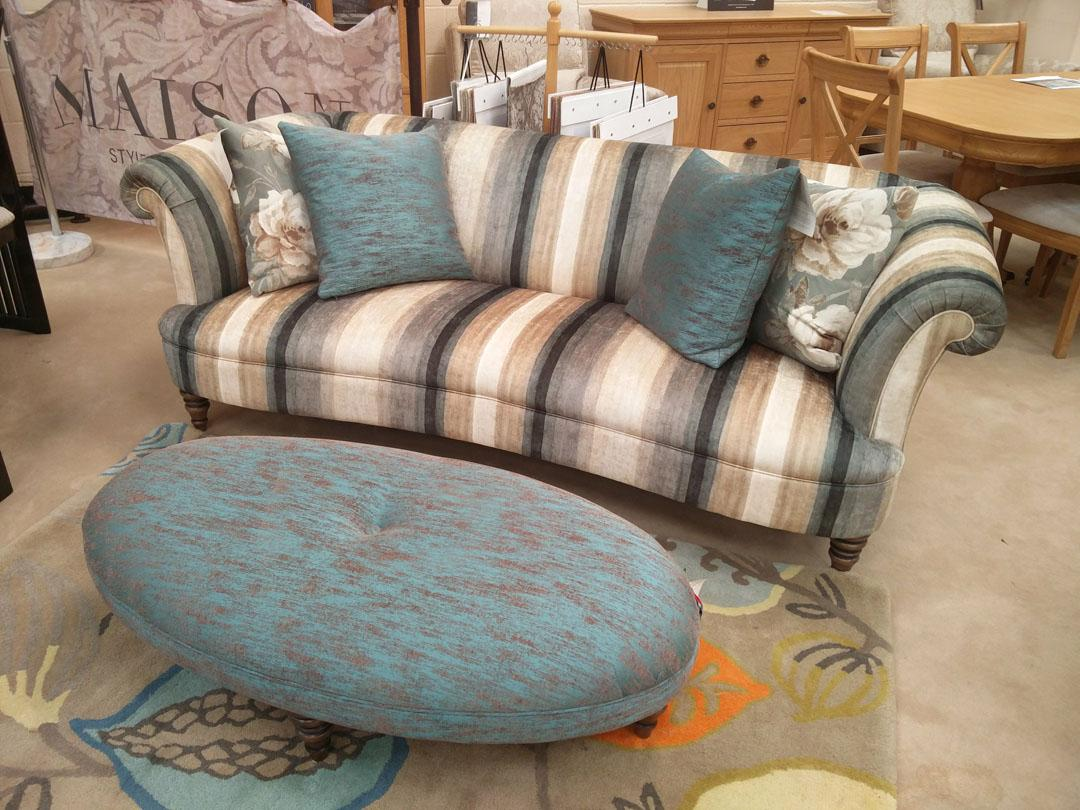 Maison by Parker Knoll - Isabelle Large 2 Seater Sofa and Stool