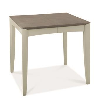 Copenhagen 2-4 Seater Extending Table in Grey Washed Oak and Soft Grey