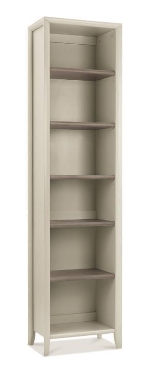 Copenhagen Narrow Bookcase in Grey Washed Oak and Soft Grey