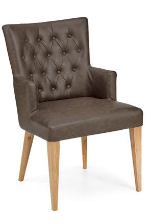 Hyde Park Upholstered Dining Arm Chair