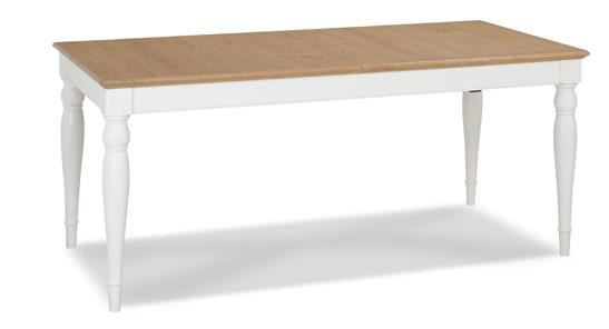 Westminster 6-8 Extending Rectangular Dining Table in Two Tone