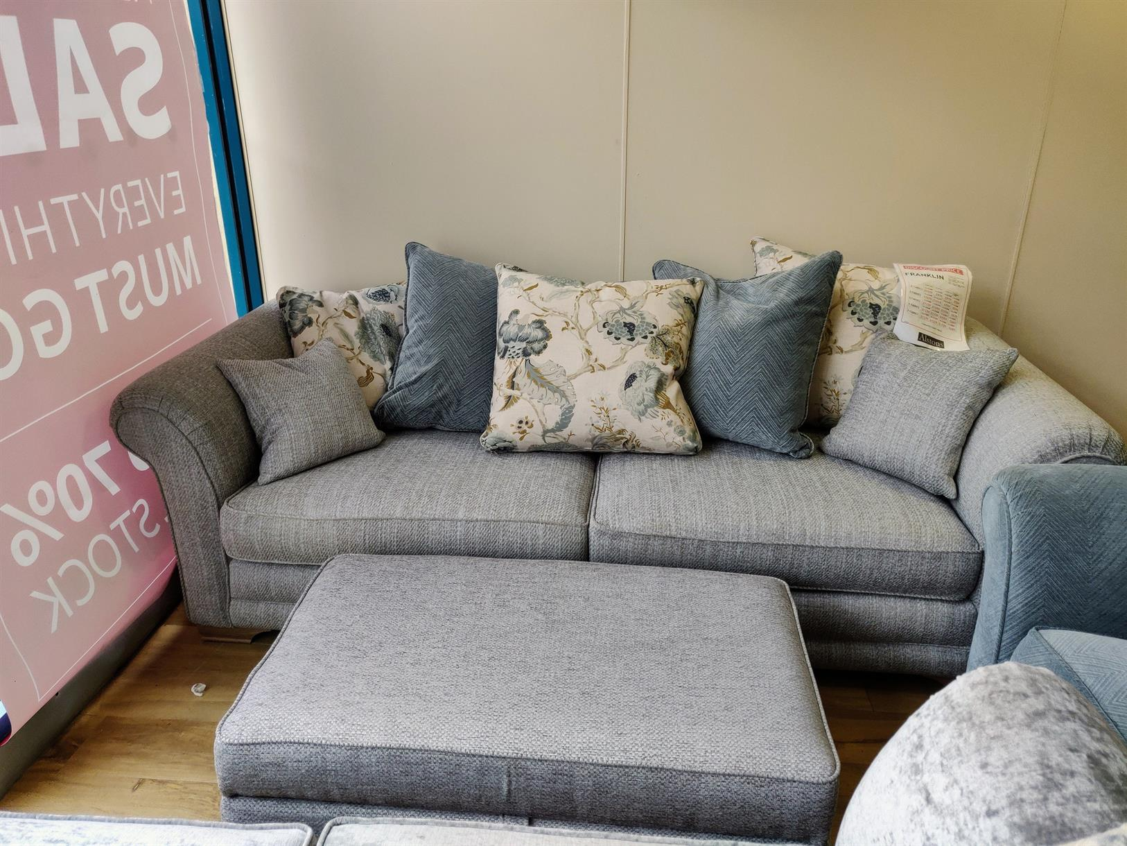 Alstons Franklin Grand Sofa, Chair and Storage Ottoman