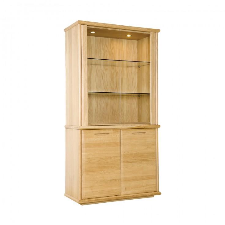 Gola- Bergen Oak- Two Door Display Cabinet