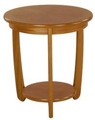 Nathan - Shades Teak - Sunburst Top Round Lamp Table