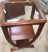 MSS - Nancelle - Glass Top Telephone Table