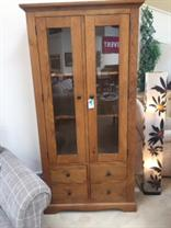 Morris - Merlot - 2 Door Display Cabinet