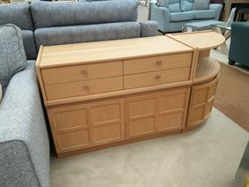 Nathan - Classic Oak - 4 Drawer Storage Unit