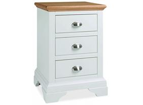 Westminster 3 Drawer Nightstand in Two Tone