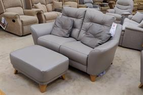 G Plan - Pip - 2 Seater Sofa, Power Relining Chair plus Stool