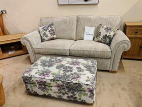 Alstons Lancaster 3 Seater Sofabed and Storage Footstool