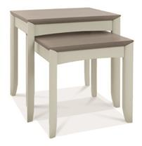 Copenhagen Nest of Tables in Grey Washed Oak and Soft Grey