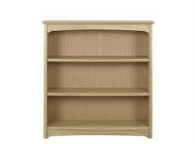 Nathan - Shades In Oak - Double Bookcase