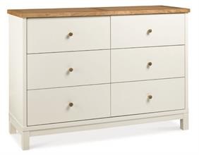 Georgia 6 Drawer Wide Chest in Two Tone