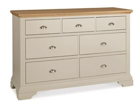 Westminster 3+4 Drawer Chest in Soft Grey and Pale Oak