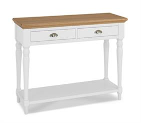 Westminster Console Table - Turned Leg - in Two Tone