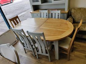 Charltons Bretange Large Oval Extending Dining Set with 6 Chairs