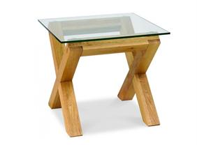 Cannes Collection- Glass Top Lamp Table