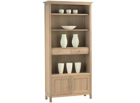 Corndell - Nimbus - Large Bookcase With Cupboards