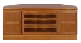 Nathan- Classic Teak- Corner TV Cabinet