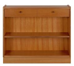 Nathan- Classic Teak- Low Open Bookcase