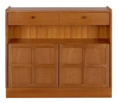 Nathan- Classic Teak- Low Bookcase with Doors
