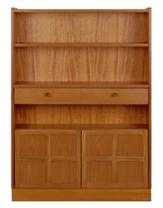 Nathan- Classic Teak- Medium Bookcase with Doors