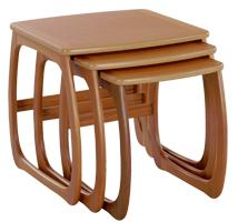 Nathan- Classic Teak- Burlington Nest of 3 Tables
