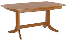 Nathan- Shades Teak- Extending Boat Shaped Pedestal Dining Table