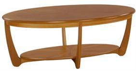 Nathan - Shades Teak -  Sunburst Oval Coffee Table