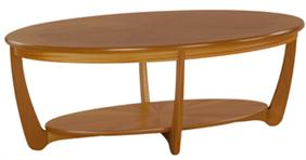 Nathan - Shades Teak -  Sunburst Oval Coffee Table
