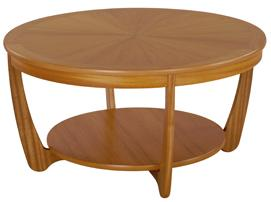 Nathan - Shades Teak - Sunburst Round Coffee Table