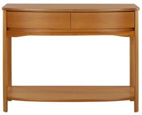 Nathan - Shades Teak - Shaped Console Table