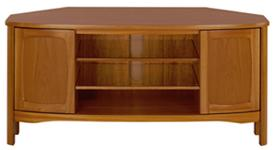 Nathan - Shades Teak - Shaped Corner TV Unit