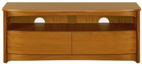 Nathan - Shades Teak - Shaped TV Unit with Drawers