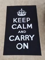 Black Keep Calm and Carry On Novelty Rug