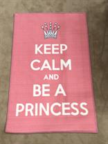 Pink Keep Calm And Be A Princess Novelty Rug
