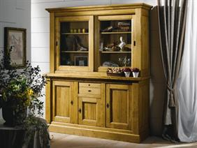 Nogent Collection- Display Cabinet with Sideboard