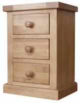 Cotswold Collection- Small 3 Drawer Bedside